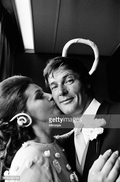 The wedding of Roger Moore and Luisa Mattioli at Caxton Hall, 11th April 1969.