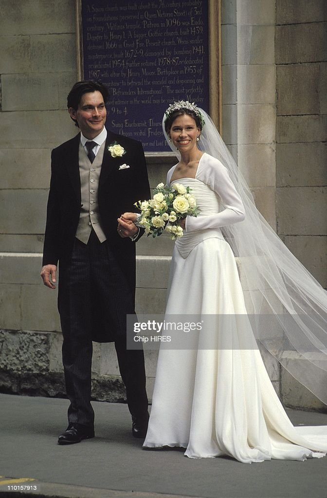 The wedding of S. Armstrong-Jones and D.Chatto in , United Kingdom on July 14, 1994. : News Photo