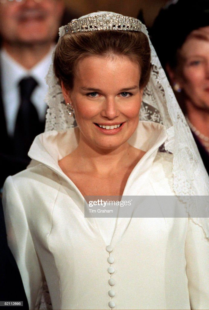 The Wedding Of The Crown Prince Of Belgium - The Bride Miss Mathilde D'udekem D'acoz.