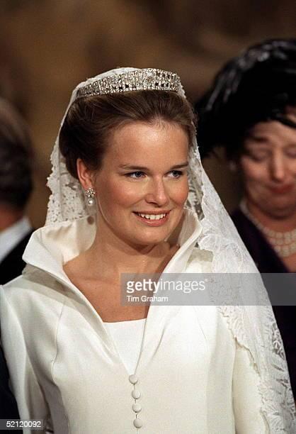 The Wedding Of The Crown Prince Of Belgium The Bride Miss Mathilde D'udekem D'acoz
