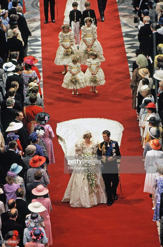 The Wedding Of The Prince And Princess Of Wales At St Paul's Cathedral In London
