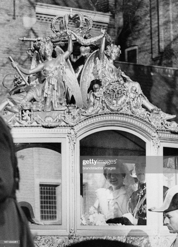 Prinzessin Juliana nach der Trauung : News Photo