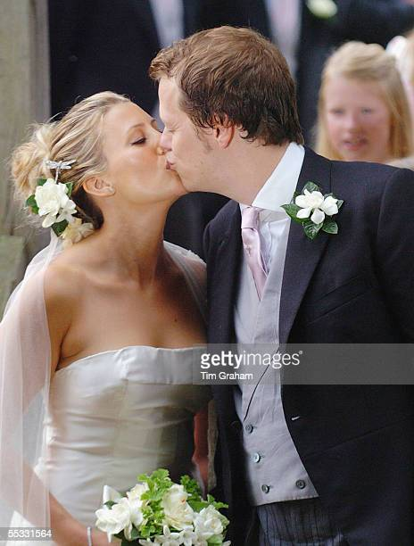 The wedding of Tom ParkerBowles to his bride Sara Buys at their marriage ceremony held at St Nicholas Church at Rotherfield Greys in Oxfordshire on...