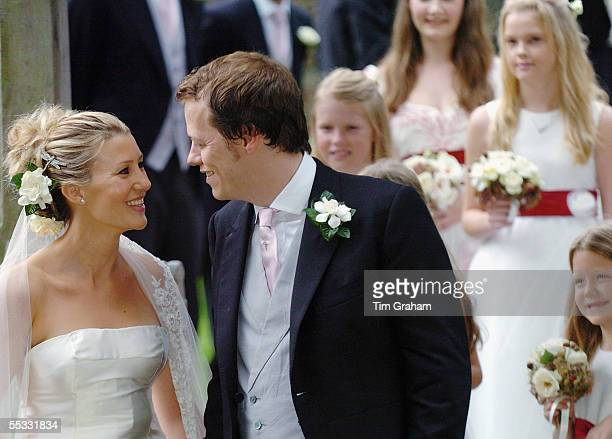 The wedding of Tom ParkerBowles to his bride Sara Buys Their marriage ceremony was held at St Nicholas Church at Rotherfield Greys in Oxfordshire on...