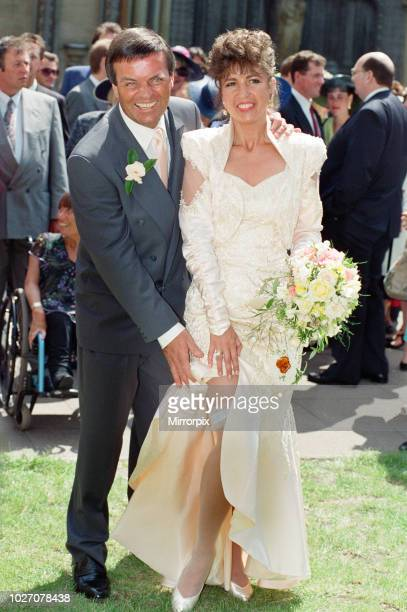 The wedding of Tony Blackburn and Debbie Thomson held at St Margaret's Church Westminster 13th June 1992