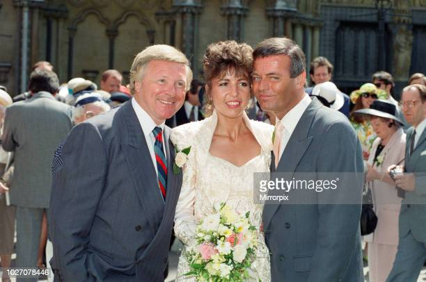 The wedding of Tony Blackburn and Debbie Thomson held at St Margaret's Church Westminster They are pictured with best man David Hamilton 13th June...