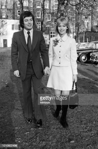 The wedding of Tony Blackburn and Tessa Wyatt at Caxton Hall London 2nd March 1972