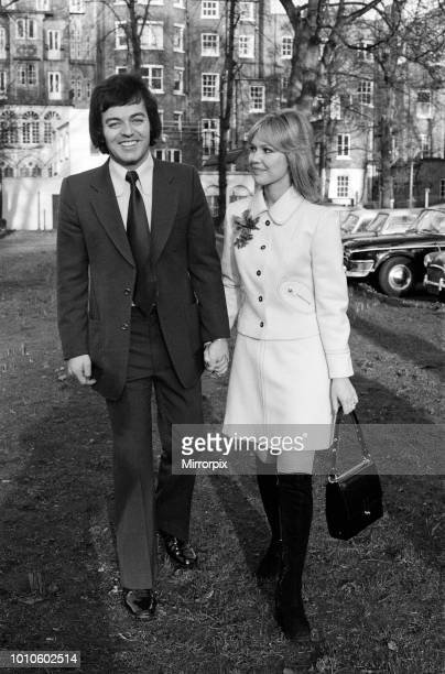 The wedding of Tony Blackburn and Tessa Wyatt at Caxton Hall, London, 2nd March 1972.
