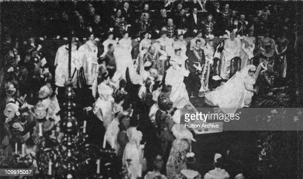 The wedding of Wilhelmina of the Netherlands to Duke Henry of MecklenburgSchwerin in The Hague Netherlands 7th February 1901