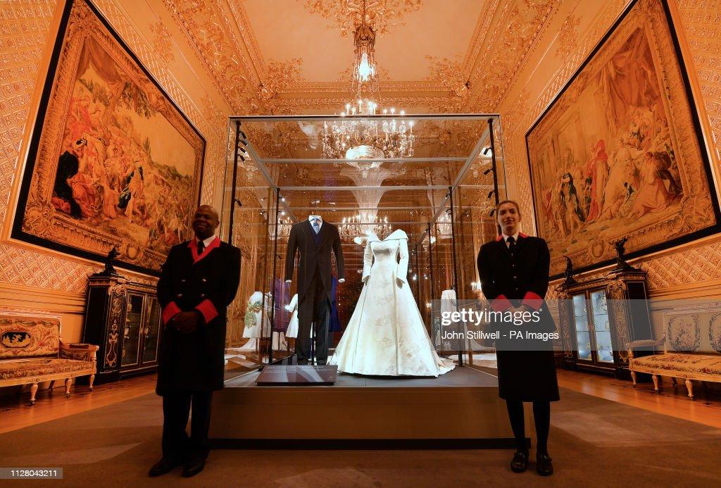 Princess Eugenie wedding dress on display at Windsor Castle : News Photo