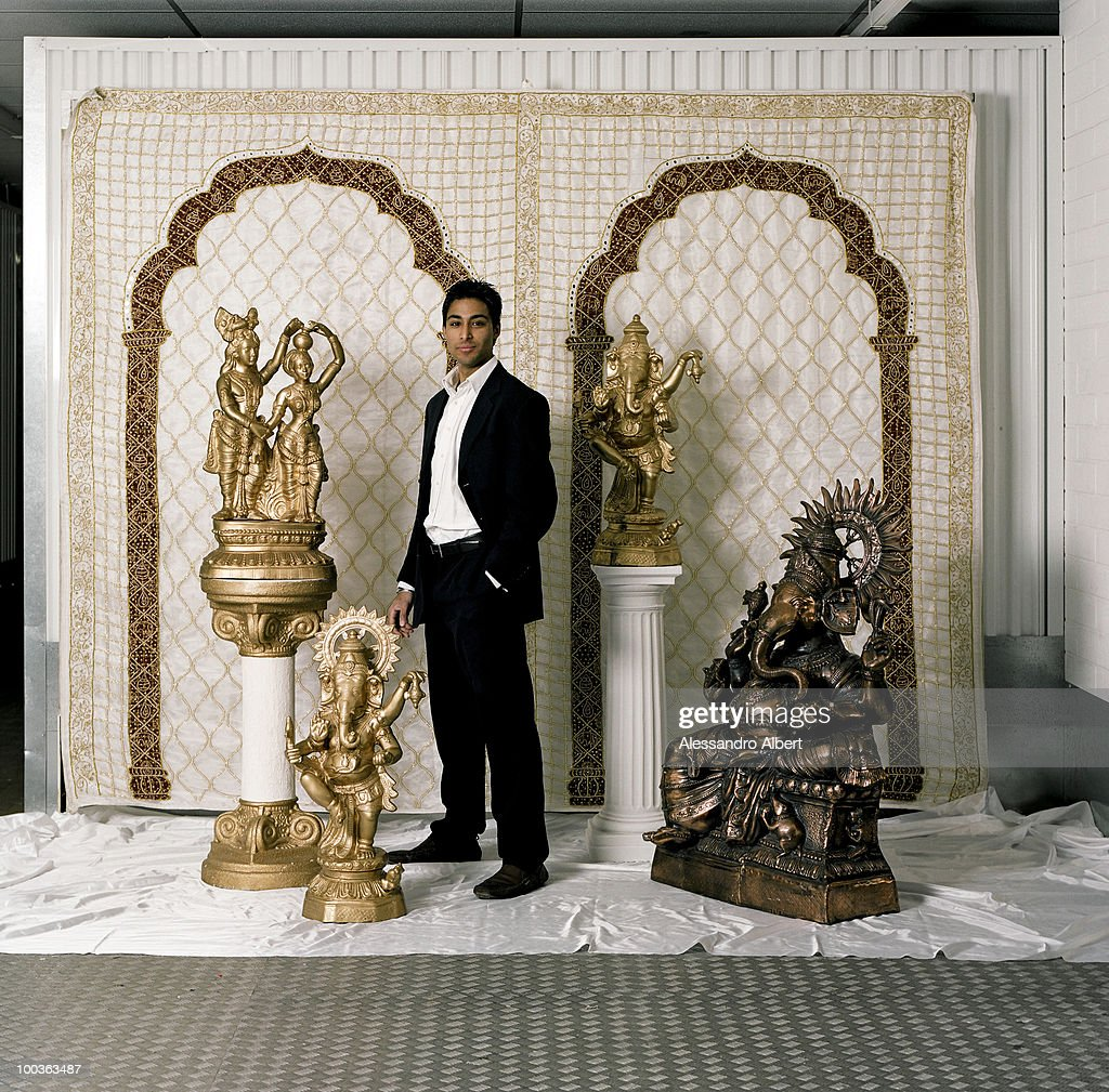 The wedding planner Jatinder Dhadwar of the agency The Indian Wedding Company poses for a portraits session on December 12, 2007 in London, England