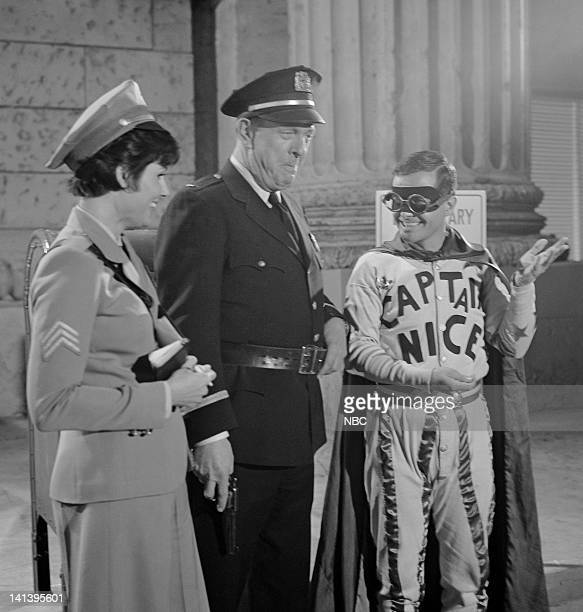 NICE 'The Week They Stole Payday' Episode 11 Aired 4/3/67 Pictured Ann Prentiss as Sgt Candy Kane Bill Zuckert as Police Chief Segal William Daniels...