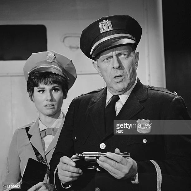 NICE 'The Week They Stole Payday' Episode 11 Aired 4/3/67 Pictured Ann Prentiss as Sgt Candy Kane Bill Zuckert as Police Chief Segal Photo by NBCU...