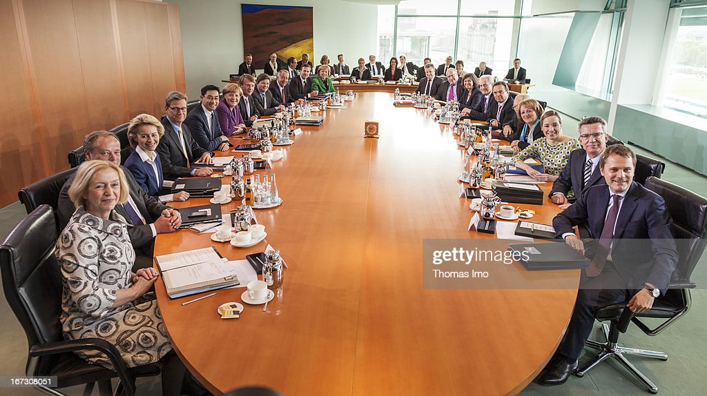 The Weekly German Federal Government Cabinet Meeting On April 24, 2013 In  Berlin, Germany