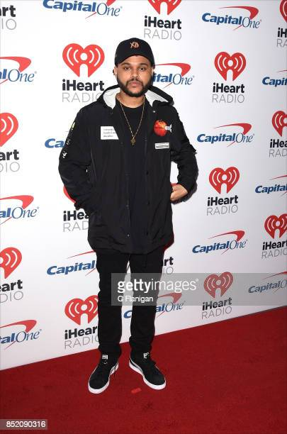 The Weeknd aka Abel Tesfaye attends the 2017 iHeartRadio Music Festival at TMobile Arena on September 22 2017 in Las Vegas Nevada