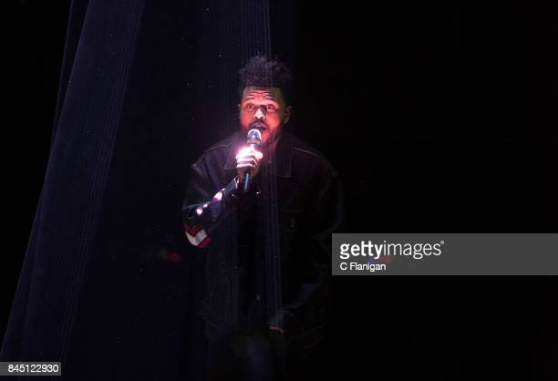 The Weeknd aka Abel Tesfaye performs during the 'Starboy Legend of the Fall Tour' at Air Canada Centre on September 9 2017 in Toronto Canada