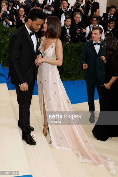 The Weeknd and Selena Gomez attend Rei Kawakubo/Commes Des Garcons Art of the InBetween the 2017 Costume Institute Benefit at Metropolitan Museum of...