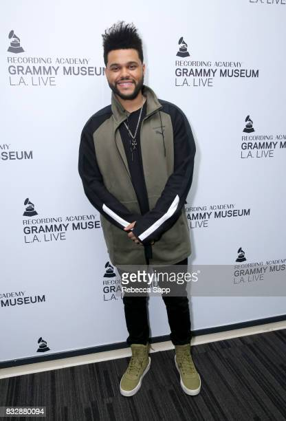 The Weeknd at A Special Performance By The Weeknd at The GRAMMY Museum on August 15 2017 in Los Angeles California