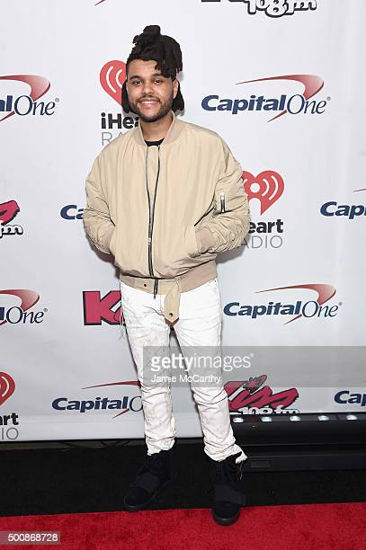 The Weeknd attends KISS 108's Jingle Ball 2015 Presented by Capital One at TD Garden on December 10 2015 in Boston Mass