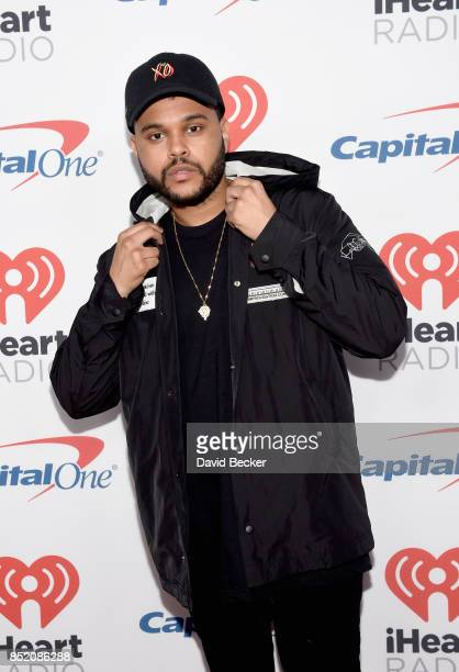 The Weeknd attends the 2017 iHeartRadio Music Festival at TMobile Arena on September 22 2017 in Las Vegas Nevada