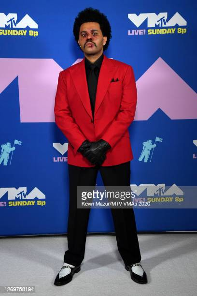 The Weeknd attends the 2020 MTV Video Music Awards, broadcast on Sunday, August 30, 2020 in New York City.