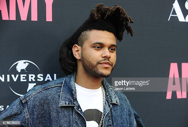 "The Weeknd attends the premiere of ""Amy"" at ArcLight Cinemas on June 25, 2015 in Hollywood, California."
