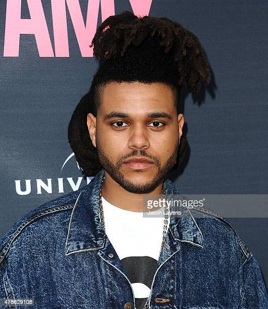 The Weeknd attends the premiere of Amy at ArcLight Cinemas on June 25 2015 in Hollywood California
