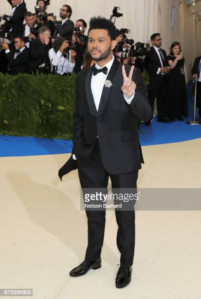 """The Weeknd attends the """"Rei Kawakubo/Comme des Garcons: Art Of The In-Between"""" Costume Institute Gala at Metropolitan Museum of Art on May 1, 2017 in..."""