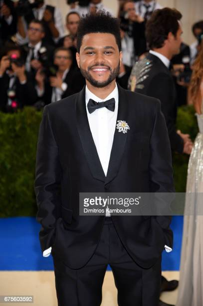 The Weeknd attends the 'Rei Kawakubo/Comme des Garcons Art Of The InBetween' Costume Institute Gala at Metropolitan Museum of Art on May 1 2017 in...