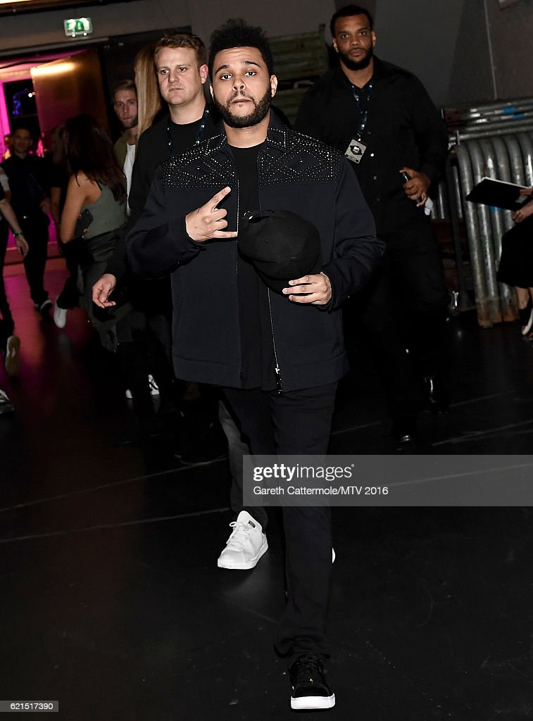 The Weeknd backstage during the MTV Europe Music Awards 2016 on November 6, 2016 in Rotterdam, Netherlands.