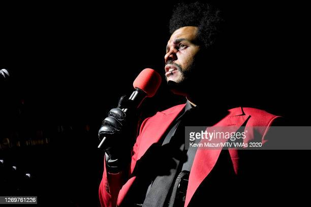 The Weeknd performs at Edge at Hudson Yards for the 2020 MTV Video Music Awards, broadcast on Sunday, August 30, 2020 in New York City.