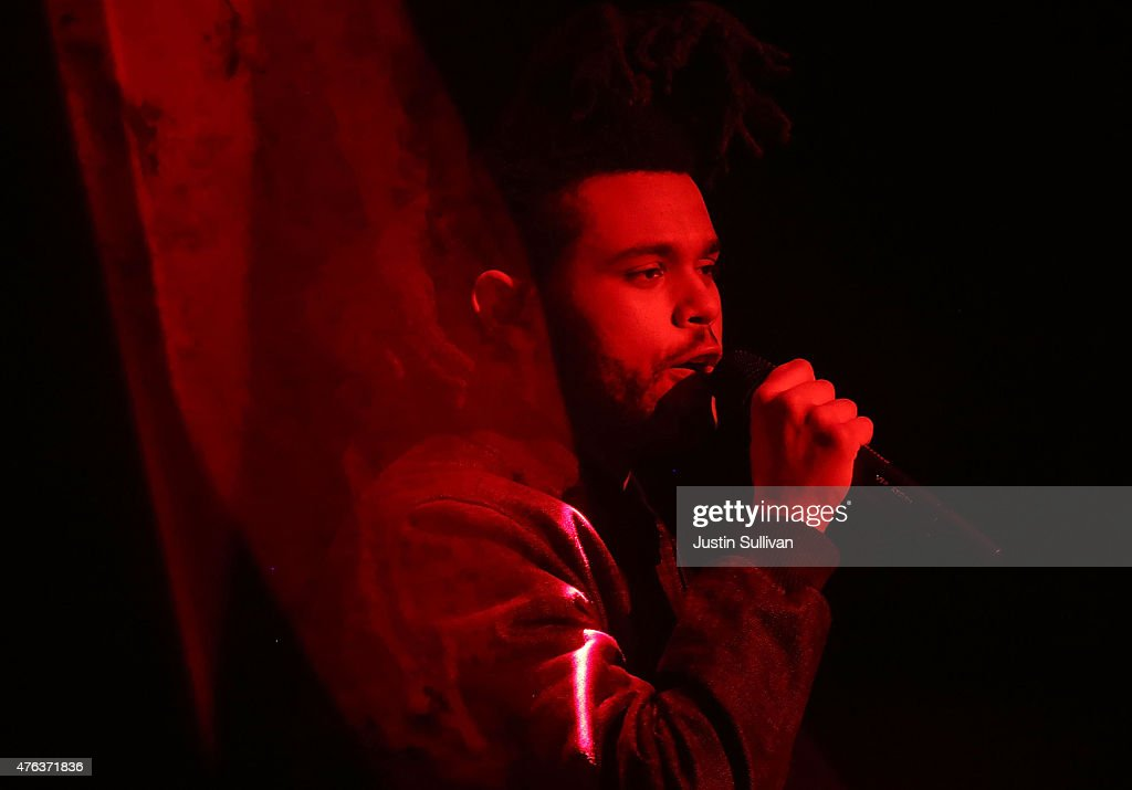 The Weeknd performs during Apple WWDC on June 8, 2015 in San Francisco, California. Apple annouced a new OS X, El Capitan, iOS 9 and Apple Music during the keynote at the annual developers conference that runs through June 12.