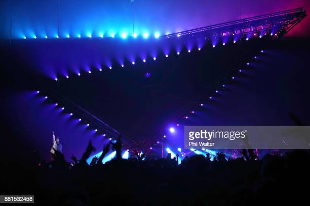 The Weeknd performs during Starboy: Legend of the Fall 2017 World Tour at Spark Arena on November 29, 2017 in Auckland, New Zealand.