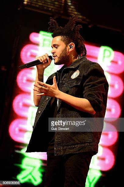 The Weeknd performs on stage at The O2 Arena Greenwich London 26 November 2013