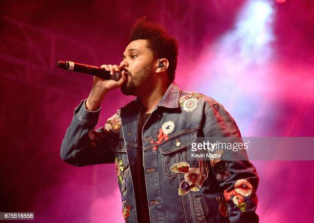 The Weeknd performs on the Gobi Tent during day 2 of the Coachella Valley Music And Arts Festival at the Empire Polo Club on April 15 2017 in Indio...