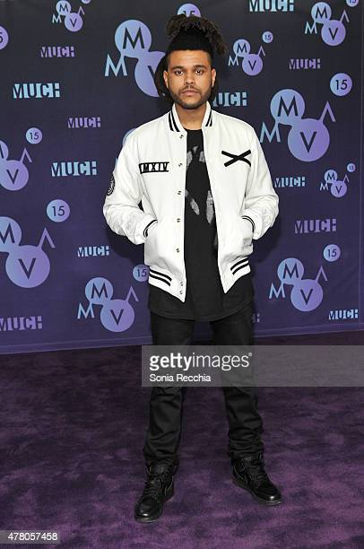 The Weeknd poses in the press room at the 2015 MuchMusic Video Awards at MuchMusic HQ on June 21, 2015 in Toronto, Canada.