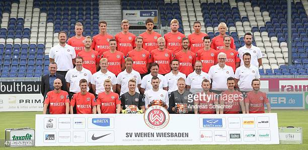 The Wehen Wiesbaden team Daniel Wein Jonas Acquistapace Kevin Schindler Kevin Pezzoni Fabian Franke Soufian Benyamina Sebastian Wagener Alexander...