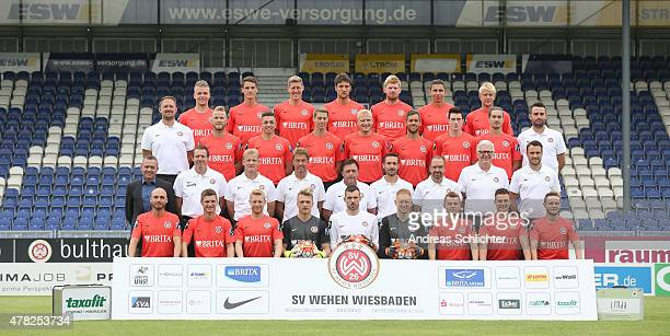 The Wehen Wiesbanden team Daniel Wein Jonas Acquistapace Kevin Schindler Kevin Pezzoni Fabian Franke Soufian Benyamina Sebastian Wagener Alexander...