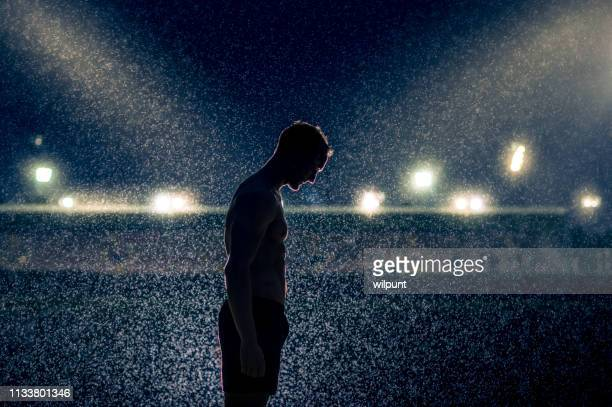 the weight of fame - famous footballers silhouette stock pictures, royalty-free photos & images
