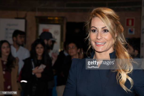 the weightlifting athlete Lidia Valentín attends the presentation of Historias de Confianza by Reale in Madrid Spain November 13 2018