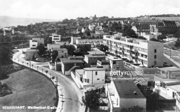 The Weissenhof Siedlung Housing Project at Stuttgart designed by leading architects of the Modern Movement The large block of flats on the right is...