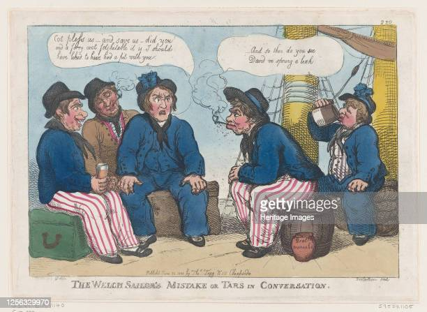 The Welch Sailor's Mistake or Tars in Conversation June 30 1808 Artist Thomas Rowlandson