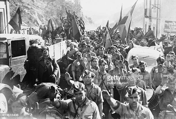 The welcomed arrival of replacement Nationalist troops during the Spanish Civil War 19361939