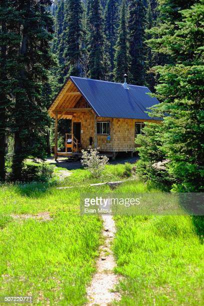 The wellappointed cabin awaiting backcountry hikers at Tenquille Lake high above Pemberton BC takes the edge off the steep summer climb