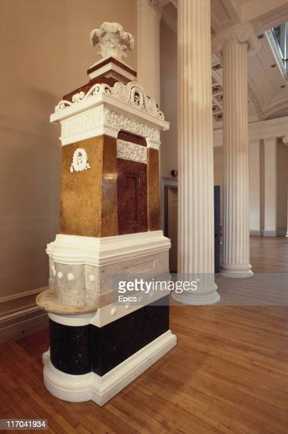 The wellhead at the Pittville pump room which is now a monument to more than 100 years of fame that Cheltenham enjoyed as a spa town Cheltenham town...