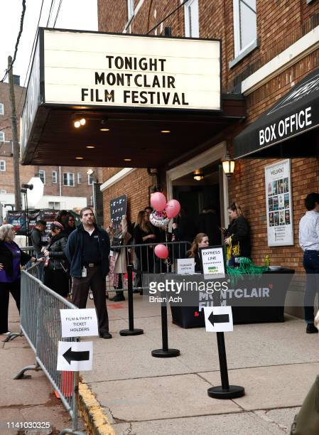 """The Wellmont Theatre marquee is seen at premiere of """"Wild Rose"""" during the opening night of the Montclair Film Festival at the Wellmont Theatre on..."""