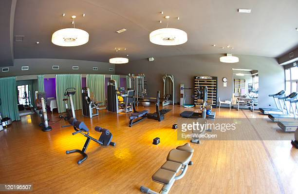 The wellness fitness and swimmingpool area 5Star Hotel Spa and Golf Cristallo member of The Leading Hotels of the World on July 04 2011 in Cortina...