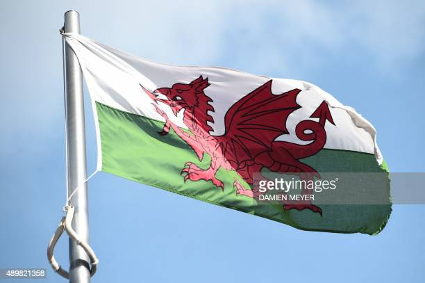 The Welsh flag flies outside the national assembly building in Cardiff on September 24 2015 AFP PHOTO / DAMIEN MEYER