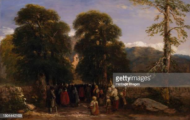 The Welsh Funeral, 1848. Artist David Cox the elder.