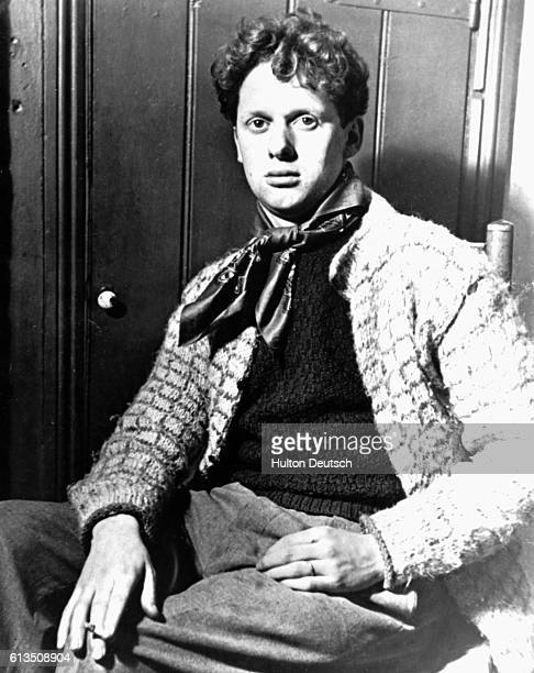 The Welsh poet Dylan Thomas as a young man